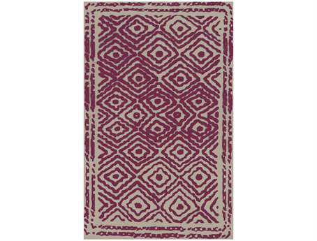 Surya Atlas Rectangular Purple Area Rug