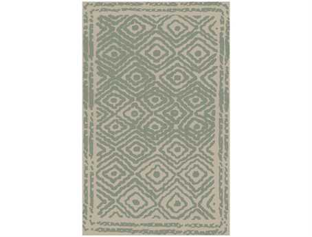 Surya Atlas Rectangular Green Area Rug