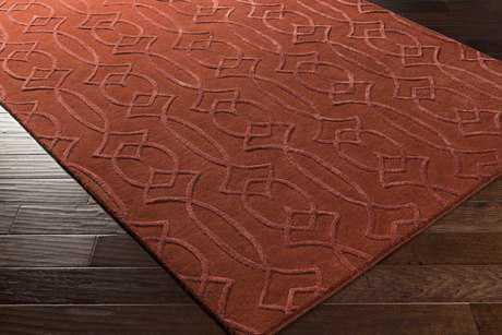 Surya Antoinette Rectangular Rust Area Rug