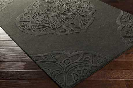 Surya Antoinette Rectangular Black Area Rug