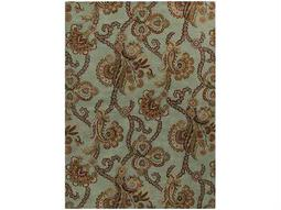 Surya Aurora Rectangular Green Area Rug
