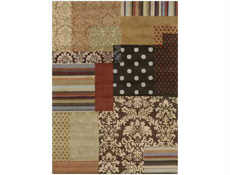 Surya Aurora Rectangular Brown Area Rug