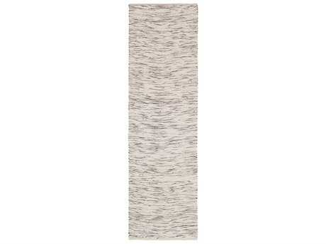 Surya Azizi 2'6'' x 8' Rectangular Dark Brown & Ivory Runner Rug