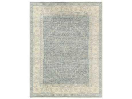 Surya Bala Rectangular Teal, Light Gray & White Area Rug
