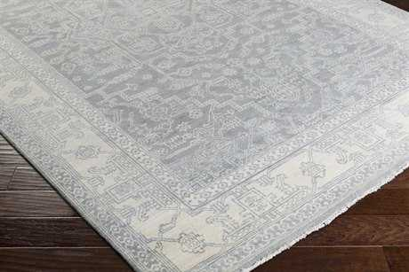 Surya Bala Rectangular Teal, Light Gray & White Area Rug