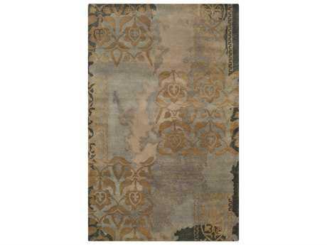 Surya Banshee Rectangular Medium Gray, Camel & Tan Area Rug