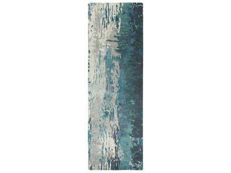 Surya Banshee 2'6'' x 8' Rectangular Teal, Sage & Ivory Runner Rug