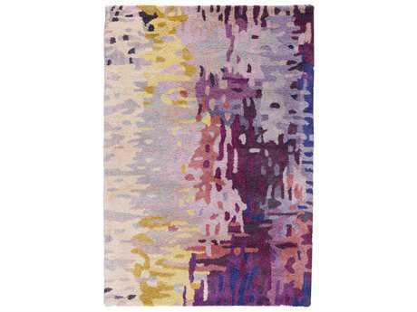 Surya Banshee Rectangular Dark Purple, Lime & Camel Area Rug