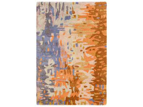 Surya Banshee Rectangular Mauve, Coral & Burnt Orange Area Rug