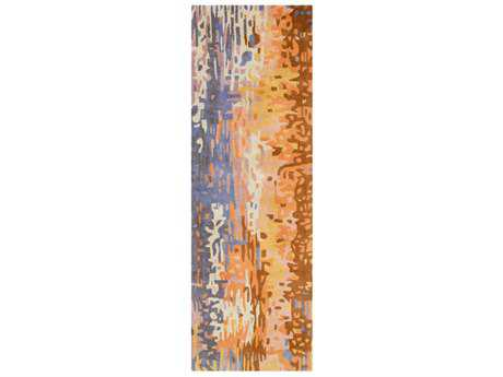 Surya Banshee 2'6'' x 8' Rectangular Mauve, Coral & Burnt Orange Runner Rug