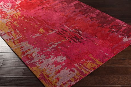 Surya Banshee Rectangular Bright Red, Bright Pink & Lilac Area Rug