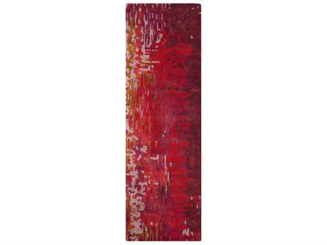 Surya Banshee 2'6'' x 8' Rectangular Bright Red, Bright Pink & Lilac Runner Rug