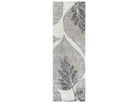 Surya Banshee 2'6'' x 8' Rectangular Light Gray, Black & Khaki Runner Rug