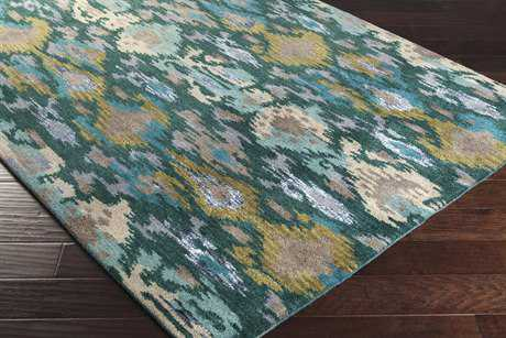 Surya Banshee Rectangular Teal, Dark Green & Olive Area Rug