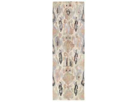 Surya Banshee 2'6'' x 8' Rectangular Rose, Pale Blue & Sea Foam Runner Rug