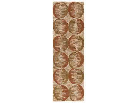 Surya Banshee 2'6'' x 8' Rectangular Rust Runner Rug