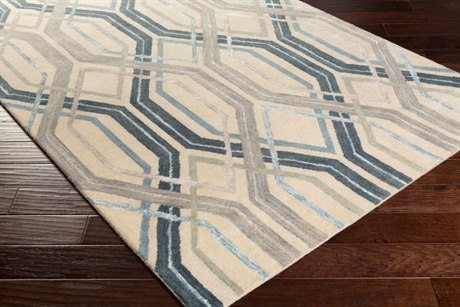 Surya Banshee Rectangular Sky Blue Area Rug