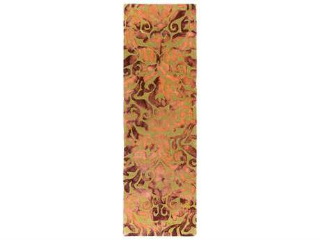 Surya Belladonna 2'6'' x 8' Rectangular Burnt Orange Runner Rug