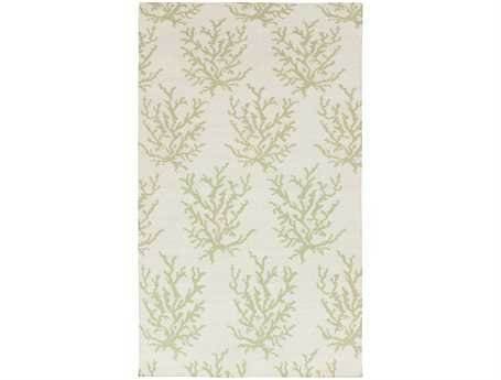 Surya Boardwalk Rectangular Green Area Rug