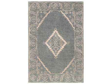 Surya Bagras Rectangular Dark Green, Dark Brown & Cream Area Rug