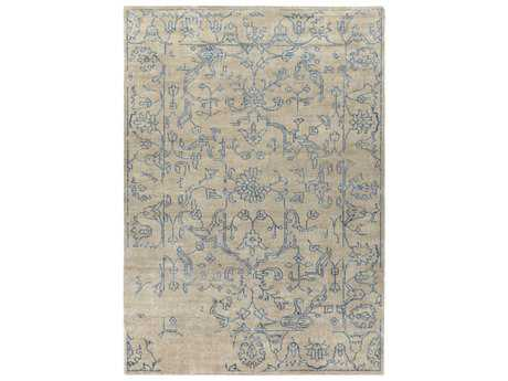 Surya Bagras Rectangular Denim & Khaki Area Rug