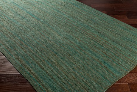 Surya Brice Rectangular Mint, Dark Brown & White Area Rug