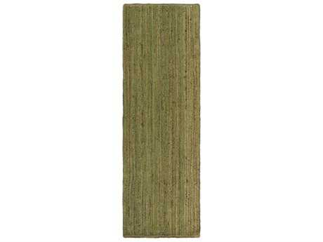 Surya Brice 2'6'' x 8' Rectangular Dark Green & Khaki Runner Rug