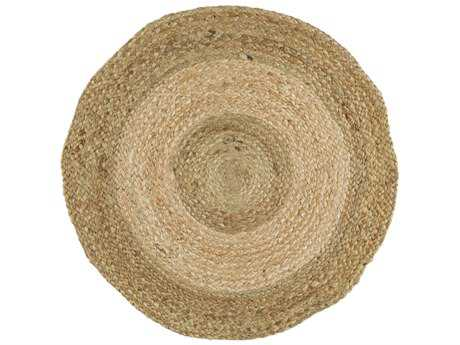 Surya Brice Round Sea Foam, Beige & Tan Area Rug
