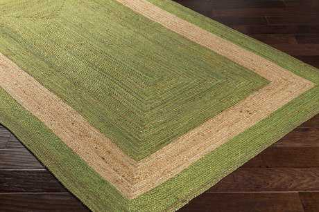 Surya Brice Rectangular Grass Green & Khaki Area Rug