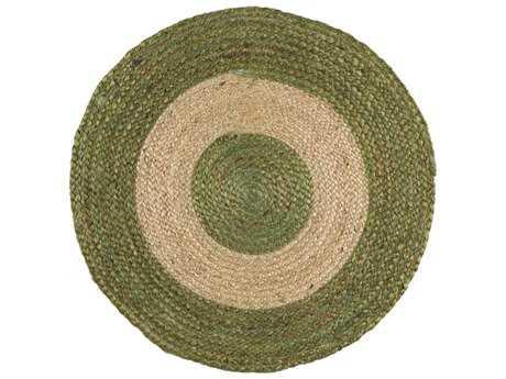 Surya Brice Round Grass Green & Khaki Area Rug