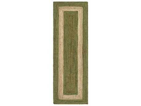 Surya Brice 2'6'' x 8' Rectangular Grass Green & Khaki Runner Rug