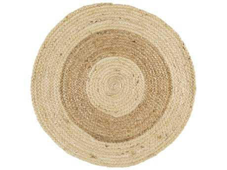 Surya Brice Round Wheat & Cream Area Rug