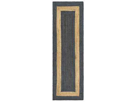 Surya Brice 2'6'' x 8' Rectangular Dark Blue & Beige Runner Rug