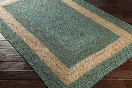 Surya Brice Rectangular Teal & Cream Area Rug