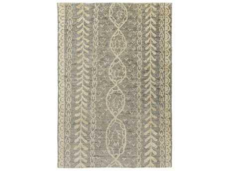Surya Bjorn Rectangular Medium Gray, Dark Brown & Khaki Area Rug