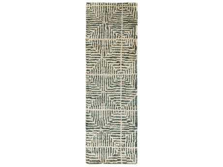 Surya Bjorn 2'6'' x 8' Rectangular Dark Green, Khaki & Camel Runner Rug