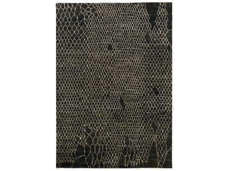 Surya Bjorn Rectangular Black, Khaki & Dark Brown Area Rug