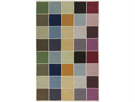 Surya Blox Rectangular Blue Area Rug