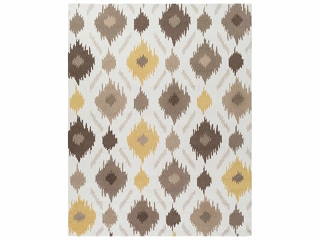 Surya Brentwood Rectangular White Area Rug
