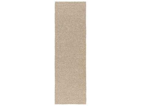 Surya Boca 2'6'' x 8' Rectangular Beige & Light Gray Runner Rug