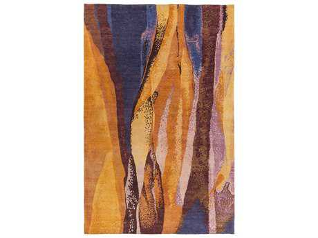 Surya Brought to Light Rectangular Burnt Orange Area Rug