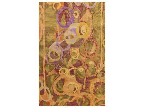 Surya Brought to Light Rectangular Olive Area Rug