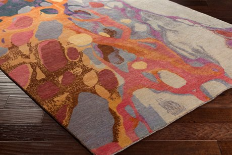 Surya Brought to Light Rectangular Violet Area Rug