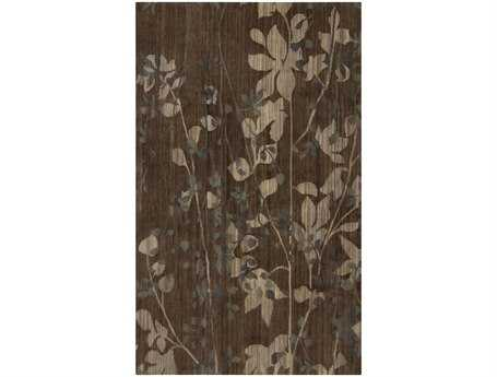 Surya Brocade Rectangular Gray Area Rug