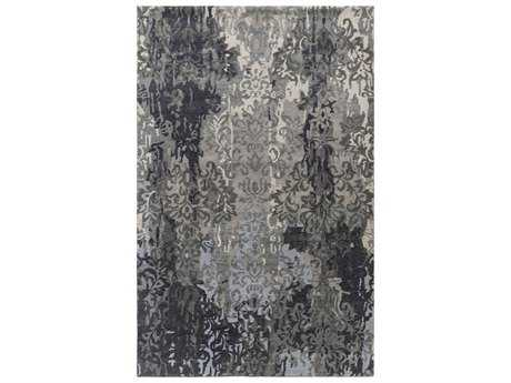 Surya Brocade Rectangular Navy Area Rug