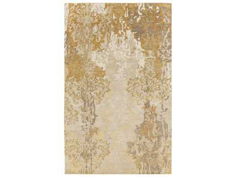 Surya Brocade Rectangular Gold Area Rug