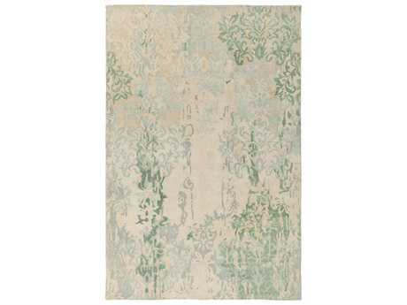 Surya Brocade Rectangular Moss Area Rug