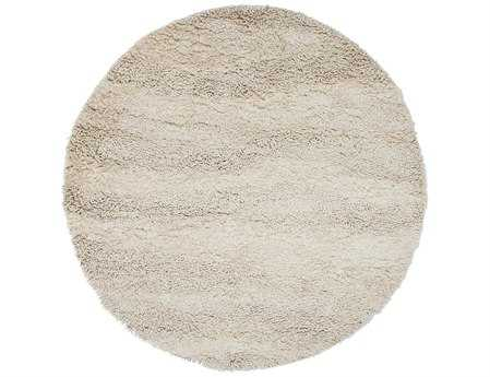 Surya Berkley 8' Round White Area Rug