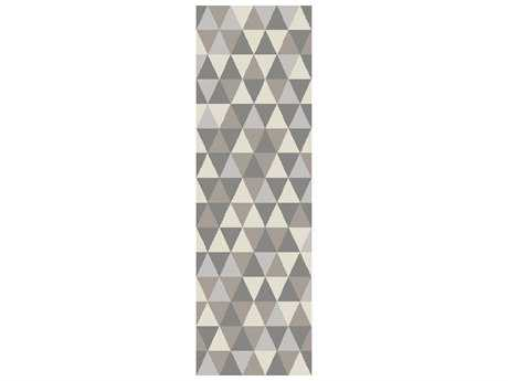 Surya Brilliance 2'6'' x 8' Rectangular Light Gray Runner Rug
