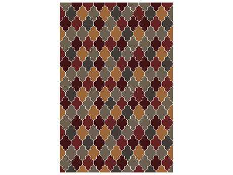 Surya Brilliance Rectangular Burgundy Area Rug